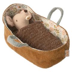 Maileg Baby-Maus in Trage