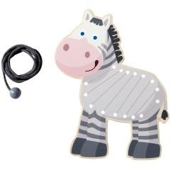 Haba Fädeltier Zebra
