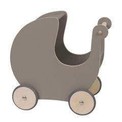 Sebra Puppenwagen / Lauflaernwagen, warm-grau