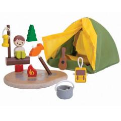 PlanToys Spielhaus Camping Set