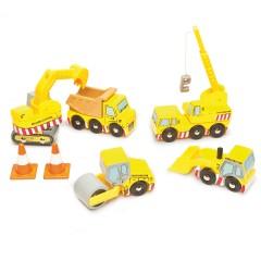 Le Toy Van bouwvoertuigen