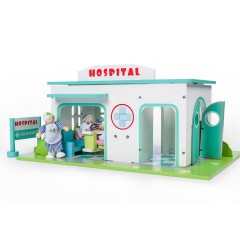 Le Toy Van Hospital Set with Nurse and Patient