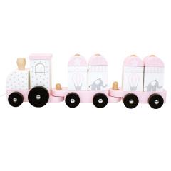 Jabadabado Zug mit Bausteinen Pink
