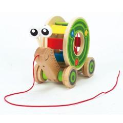Hape E0349 Escargot roulant avec jeu de formes
