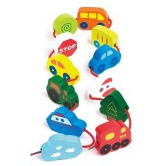 Hape Fädelspiel Verschnürte Fahrzeuge