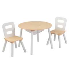 Kidkraft Ronde tafel met 2 stoelen - 27027