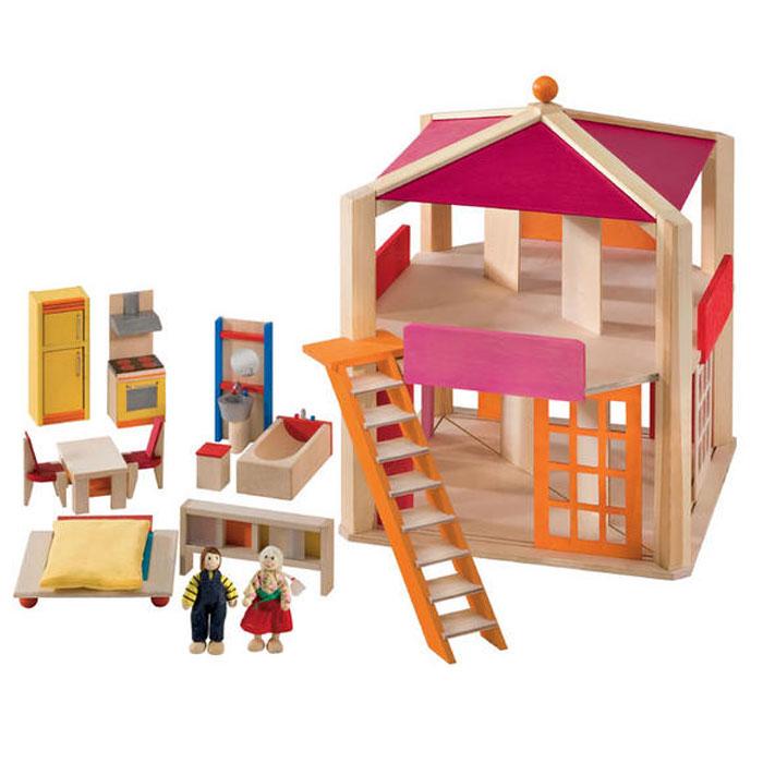 puppenhaus holz selecta gebraucht. Black Bedroom Furniture Sets. Home Design Ideas