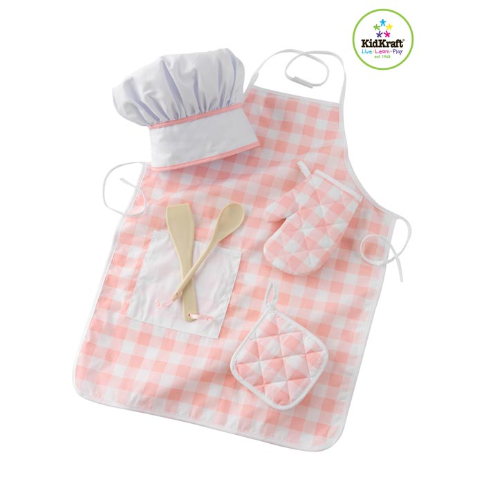 Kidkraft set d accessoires de cuisine rose 63196 for Cuisine kidkraft rose