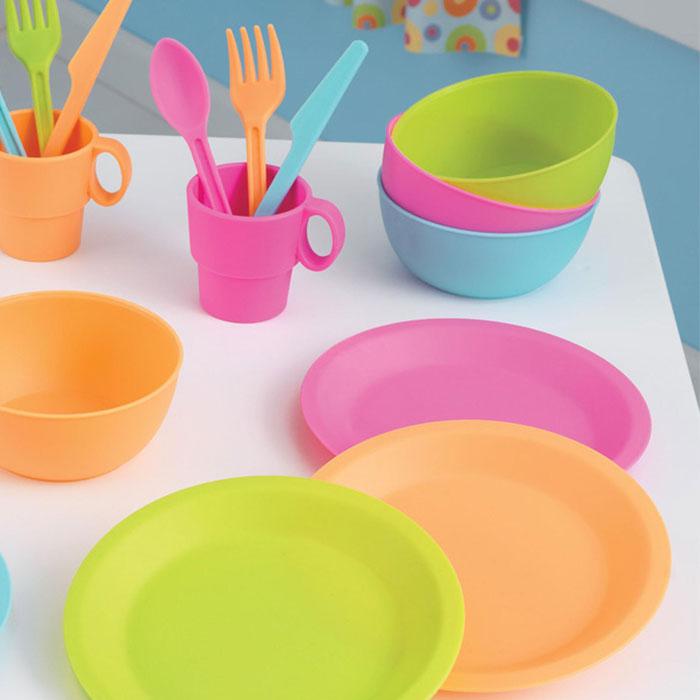 Kidkraft Geschirr  Und Kochset In Hellen Farben