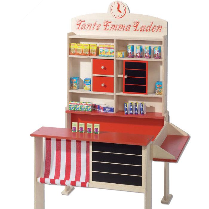 kaufladen holz stabiler kaufmannsladen bei pirum holzspielzeuge. Black Bedroom Furniture Sets. Home Design Ideas