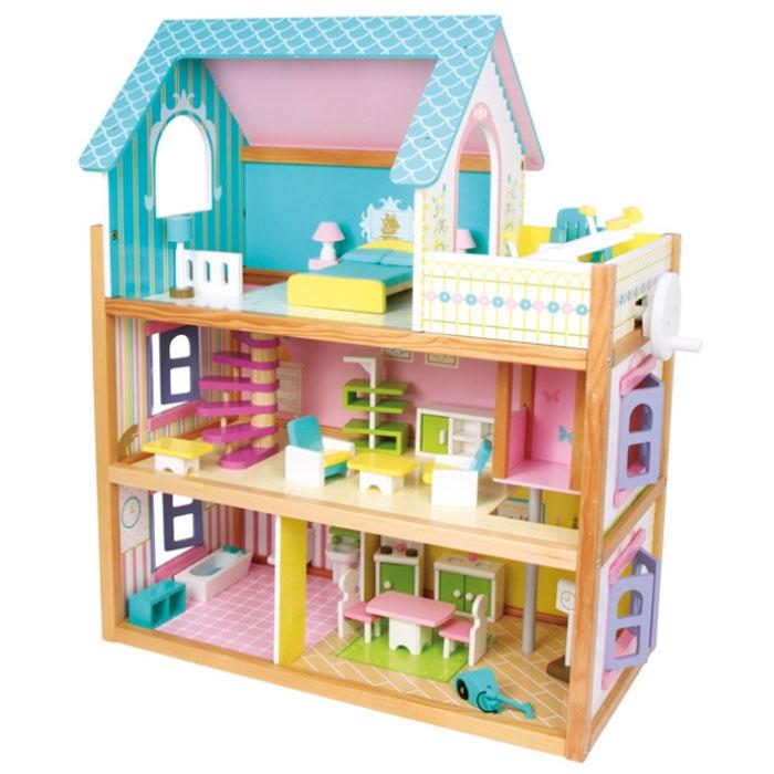 puppenhaus residenz aus holz für kinder,