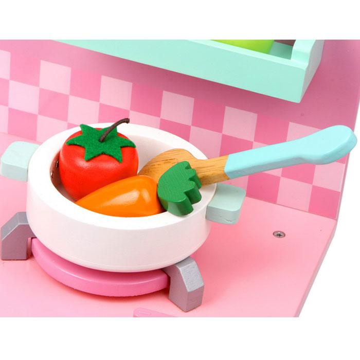 Kinderkuche rosali aus holz mit zubehor kinderkuchen for Kinderküche günstig