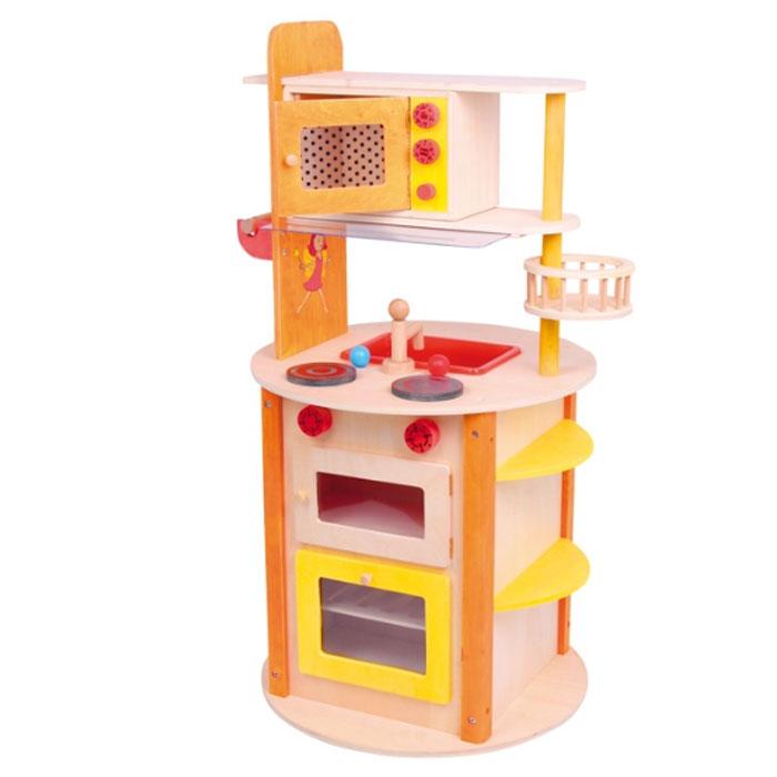 Kinderküche mit vielen Spielmöglichkeiten- Kinderküchen aus Holz