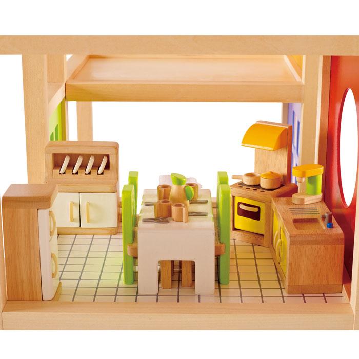 hape puppenhausm bel k che e3453 aus holz. Black Bedroom Furniture Sets. Home Design Ideas