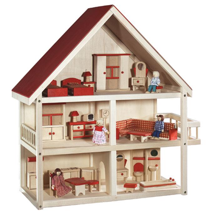 Puppenhaus aus holz von roba mit 3 etagen puppenh user kaufen for 3 piani casa 3 bagni