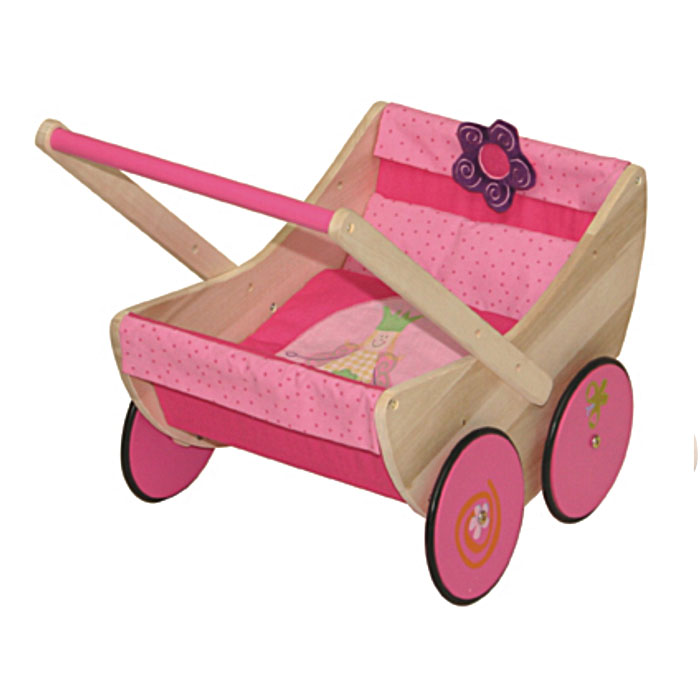 Lauflern Puppenwagen Aus Holz ~ Puppenwagen Happy Fee aus Holz von Roba  Pirum Holzspielzeuge de