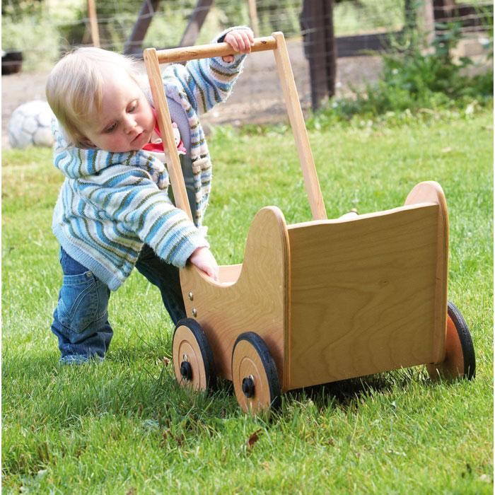 Pinolino Puppenwagen Holz Sarah Buche Natur ~ Puppenwagen Sarah aus Holz von Pinolino