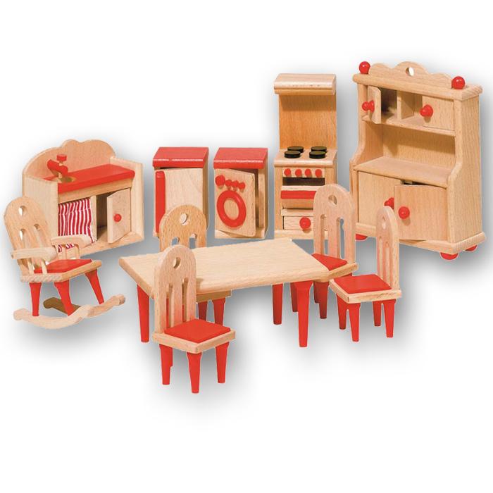 goki puppenhausmöbel holz für die küche | pirum-holzspielzeuge.de