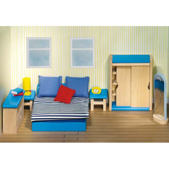 Goki mobili casa delle bambole camera da letto 51906 for Case kit 1 camera da letto