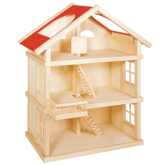 Goki puppenhaus 51957 holz mit 3 etagen - Casa delle bambole ikea ...