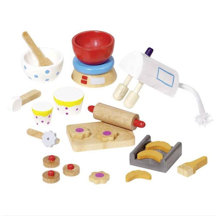 puppenhausmöbel küche aus holz von goki: bei pirum-holzspielzeuge