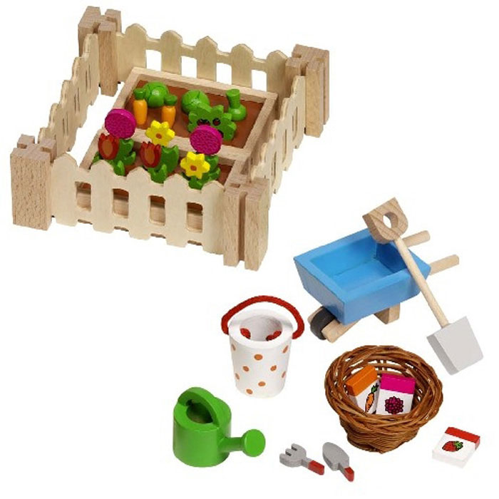 Puppenhaus Holz Ohne ZubehOr ~ Goki Puppenhauszubehör Garten