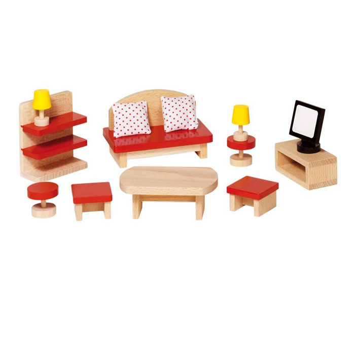 Goki accessori mobili stanza da letto giocattoli di legno for Mobili per stanza da letto