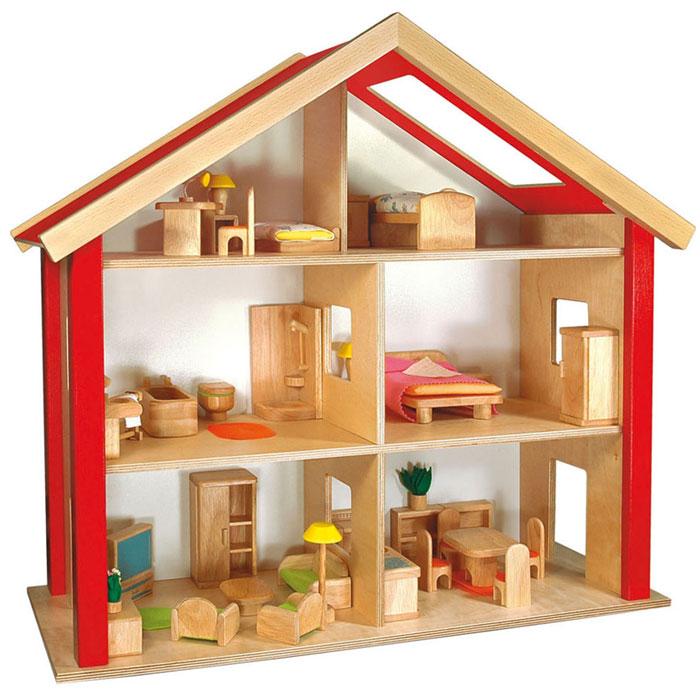 puppenhaus aus stabilem holz puppenh user von nemmer kaufen. Black Bedroom Furniture Sets. Home Design Ideas