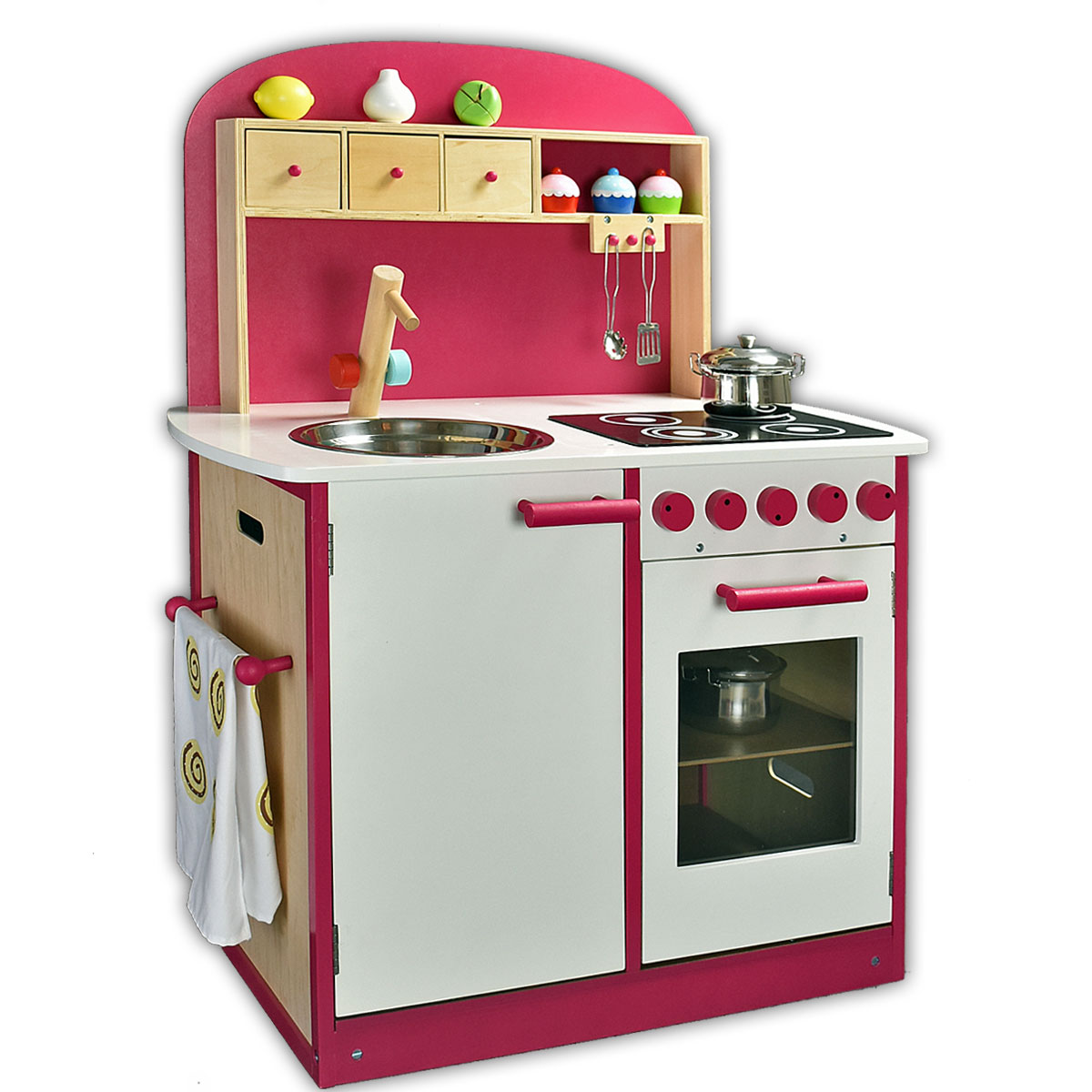 Sun 04124 cucina pink giocattoli di legno per bambini Pirum