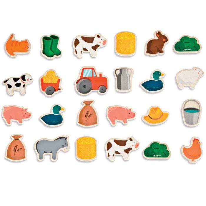 tafel magnete f r tafeln von janod bei pirum holzspielzeuge kaufen. Black Bedroom Furniture Sets. Home Design Ideas
