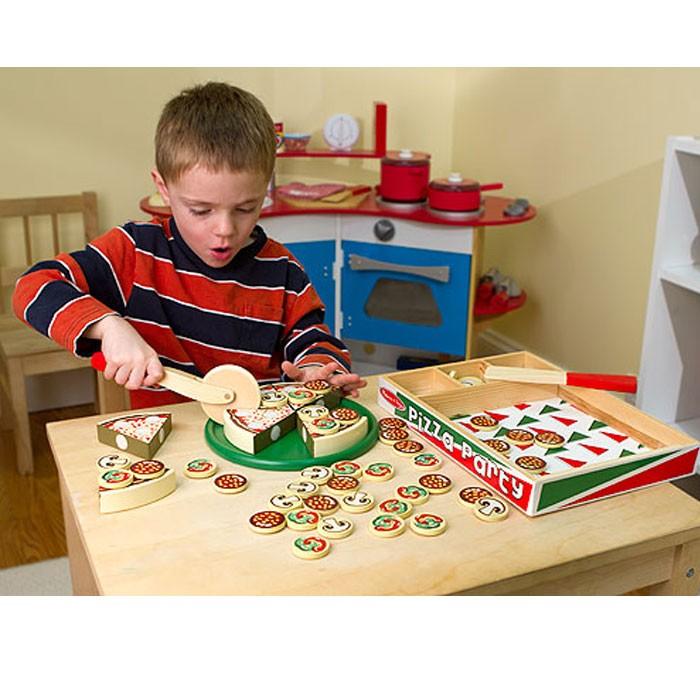 Kids Melissa And Doug Baby Childs Pizza Set  10167