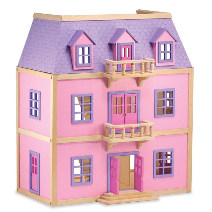 Melissa doug 14570 casa per bambole in legno a pi piani - Casa delle bambole in legno ikea ...