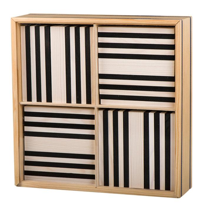 kapla baustein set 100 schwarz weiss b100nb pirum holzspielzeuge. Black Bedroom Furniture Sets. Home Design Ideas