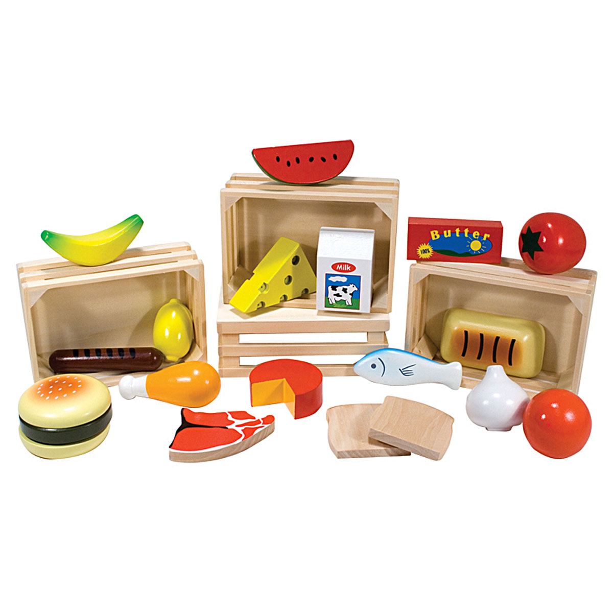 Lego Toy Food : Melissa doug lebensmittel set aus holz pirum