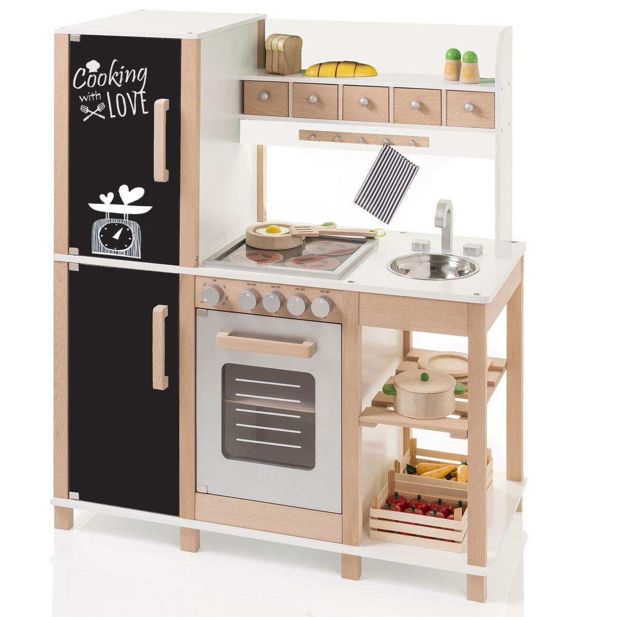 sun 04139 kinderk che mit tafel aus holz mit k hl. Black Bedroom Furniture Sets. Home Design Ideas