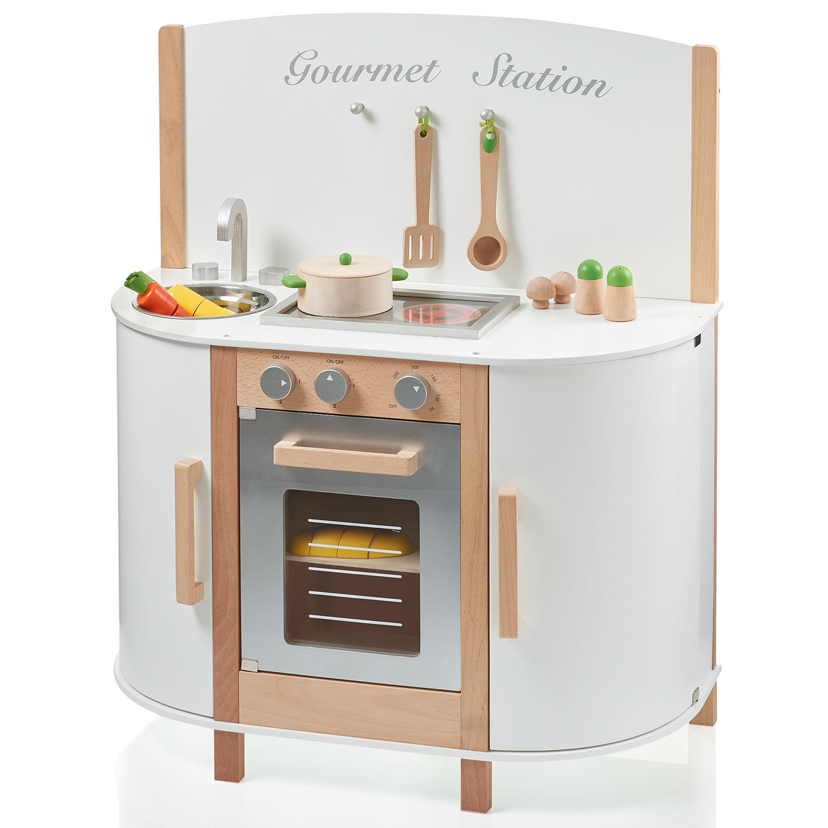 sun spielk che gourmet station weiss aus holz 04147. Black Bedroom Furniture Sets. Home Design Ideas