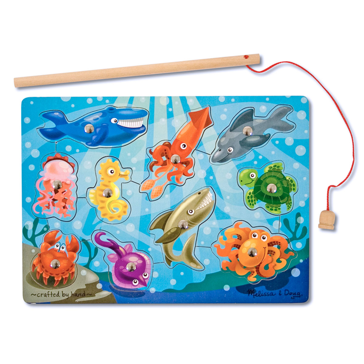 Melissa Doug Toys : Melissa doug magnetic wooden game fishing
