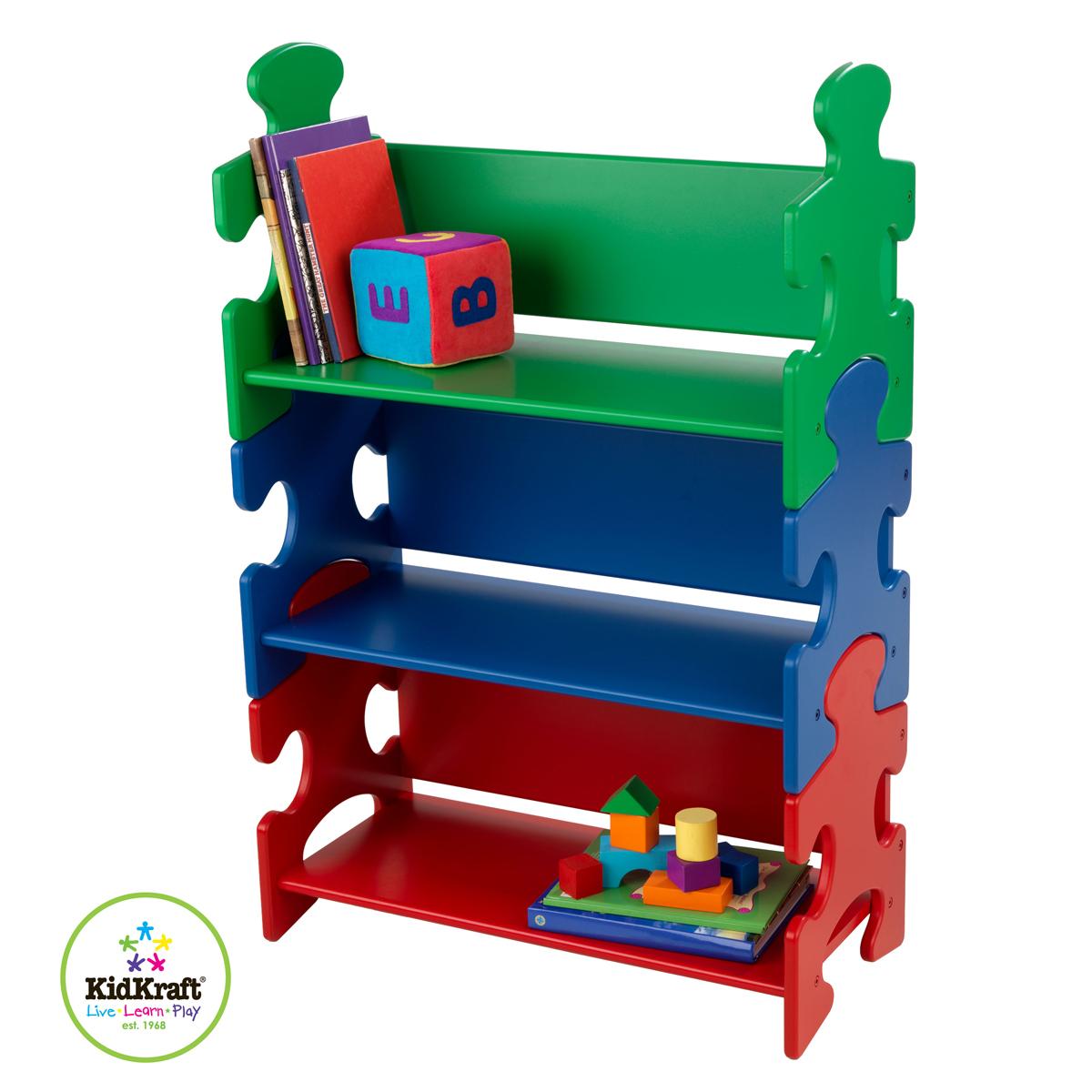 Kidkraft Estantería de libros estilo puzle en colores primarios ...