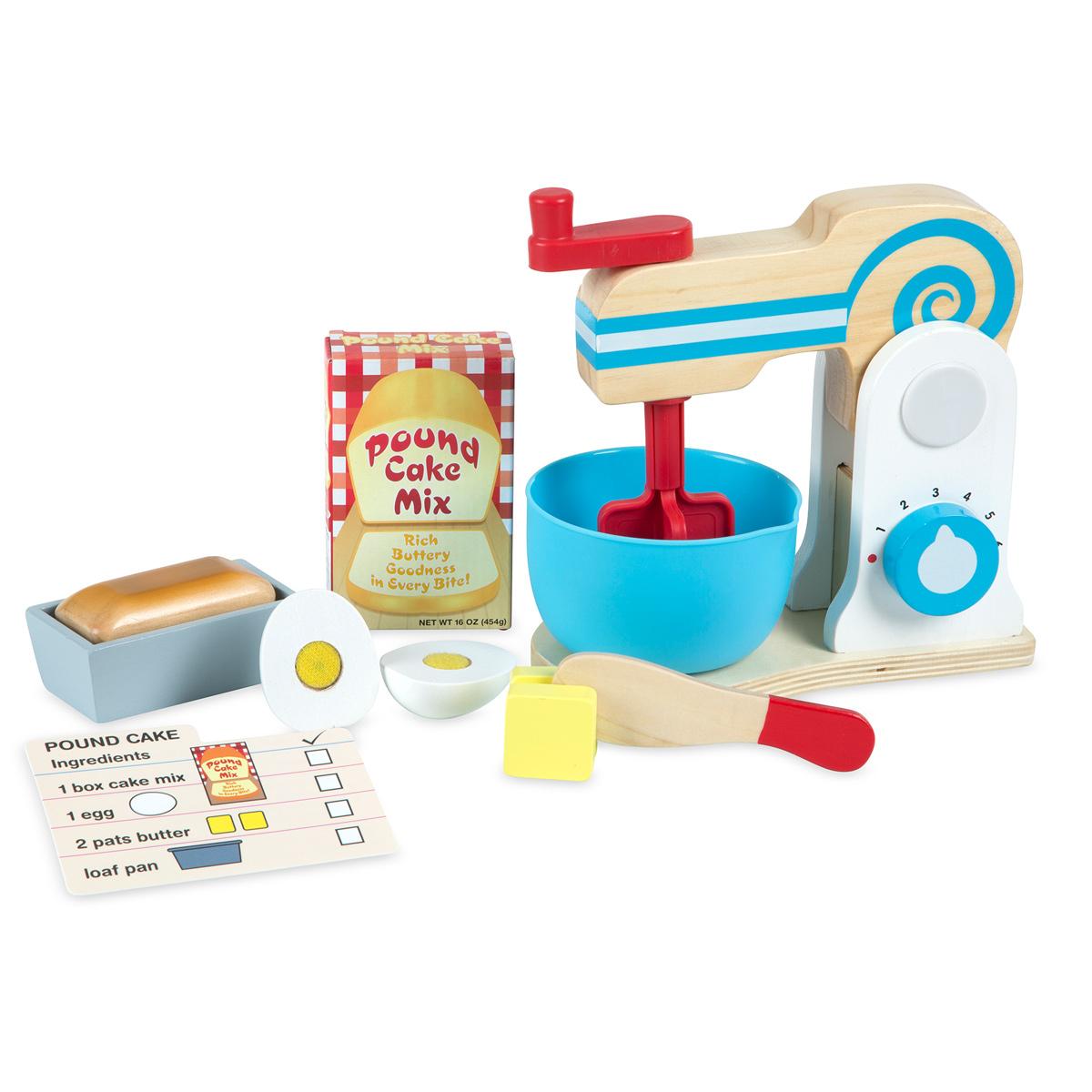 Set con robot da cucina di legno per fare una torta - Robot da cucina con estrattore di succo ...
