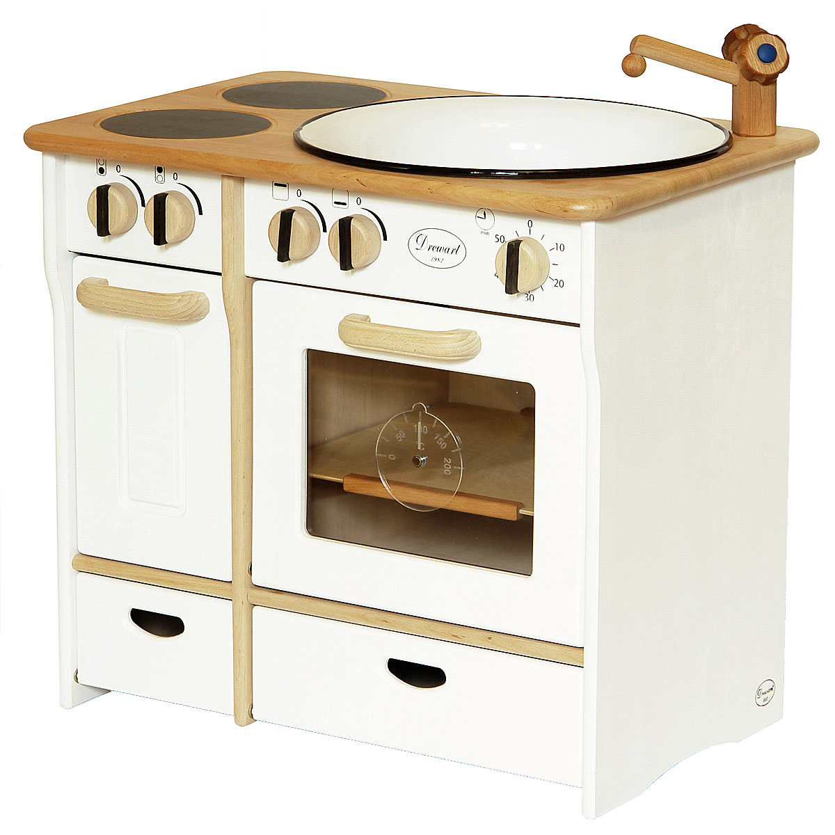 Drewart cucina di legno bianco giocattoli di legno pirum - Cucina legno bianco ...
