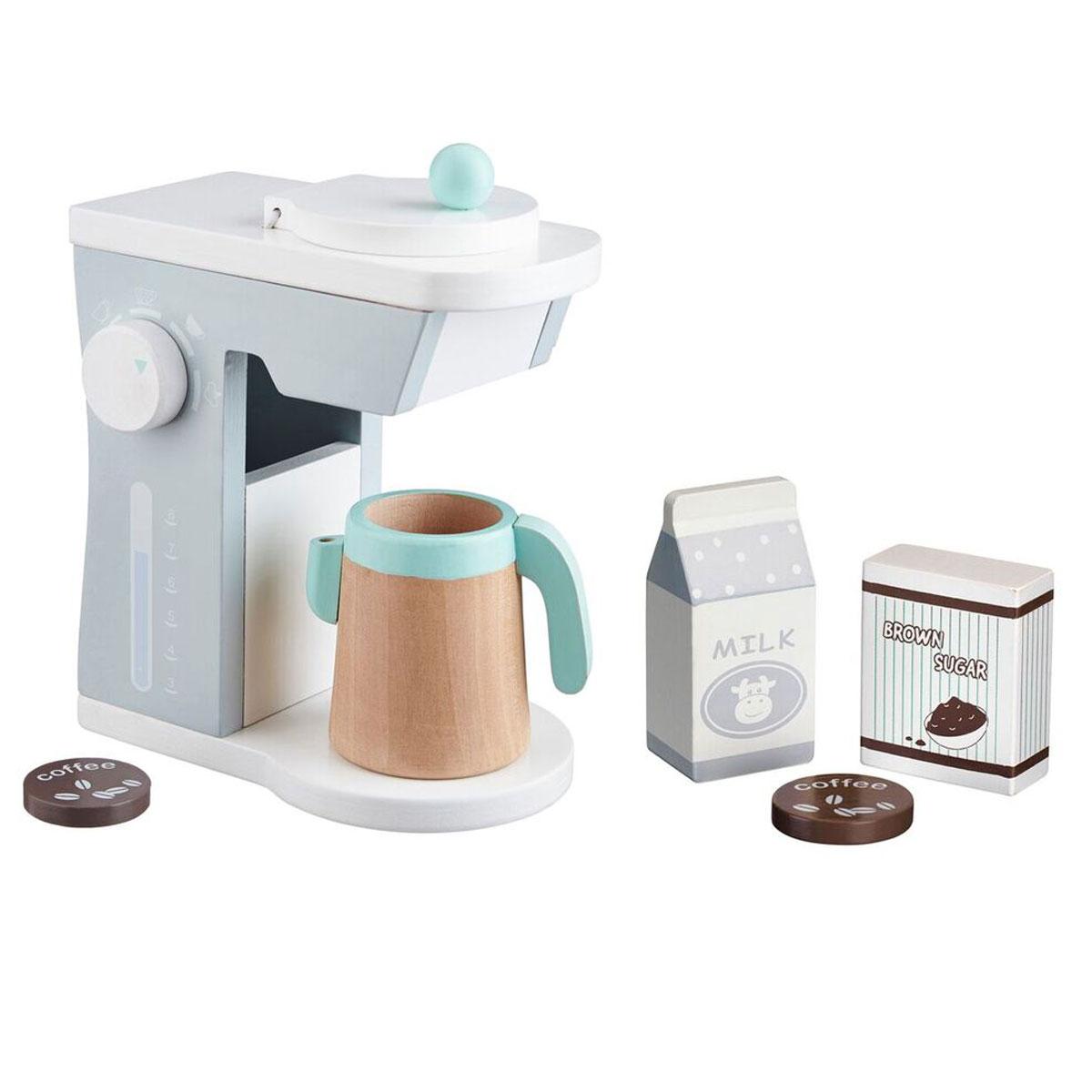 Kinderküchen Geschirr ~ kids concept kaffeemaschine weiß grau für diei kinderküche aus holz