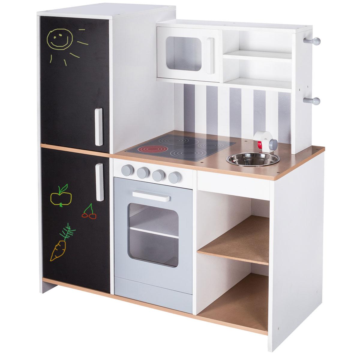 Roba kinderkuche aus holz mit kreidetafel 480225 pirum for Kinderküche aus holz
