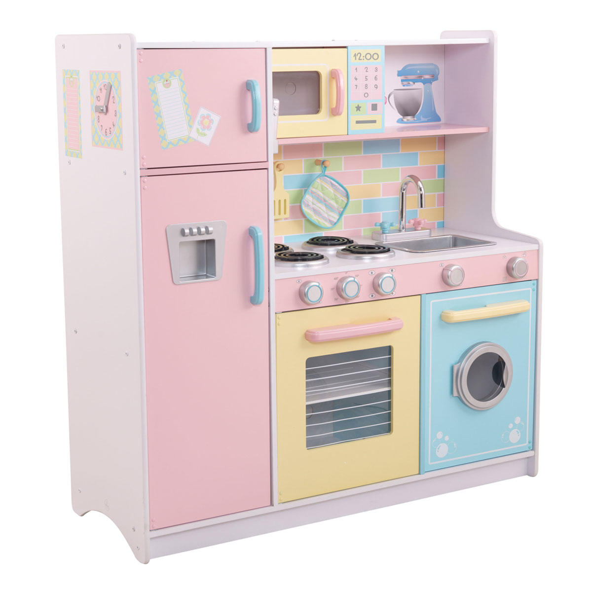 Kidkraft cucina deluxe pastel 53336 pirum for Set cuisine enfant