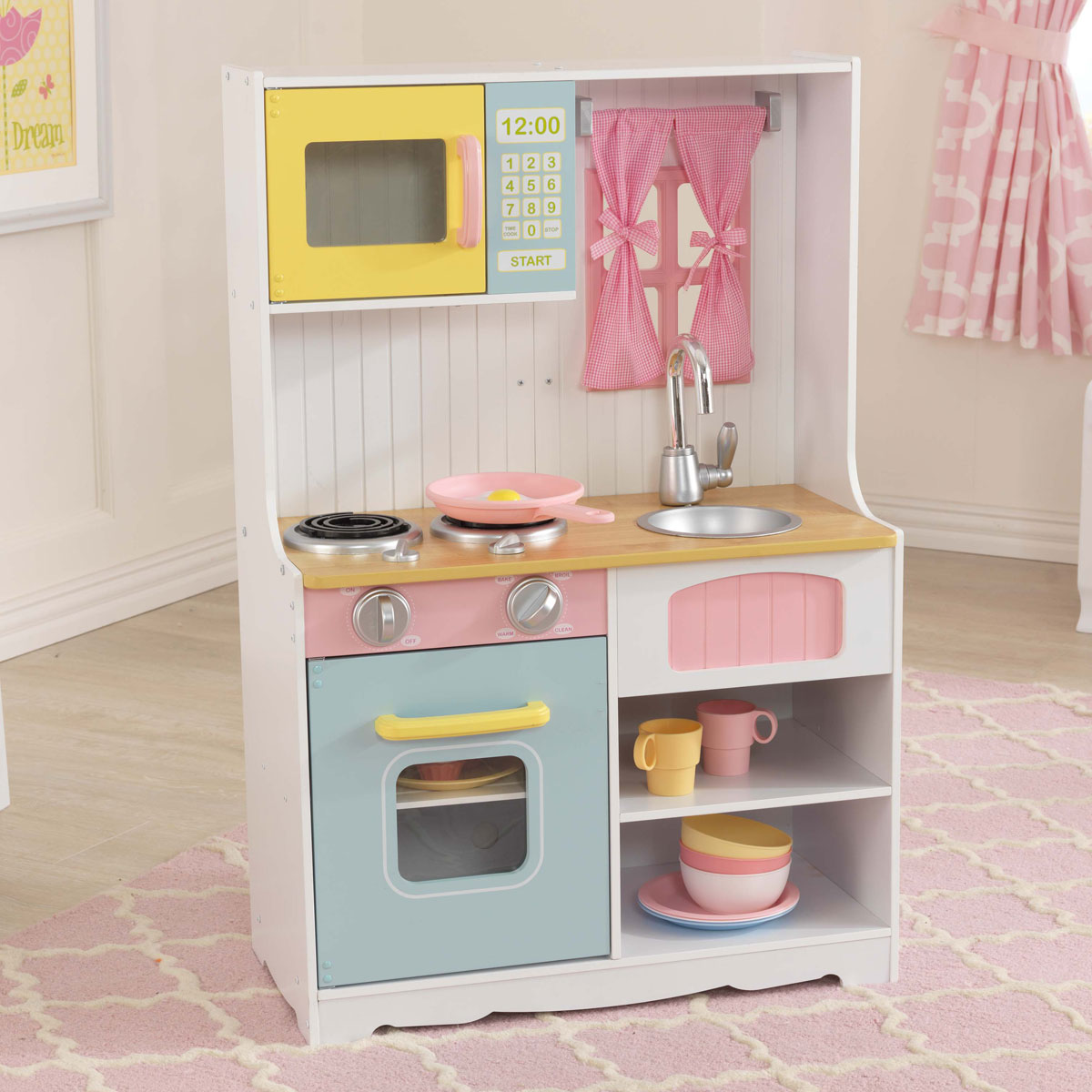 Kidkraft cuisine pastel country 53354 pirum for Cuisine kidkraft