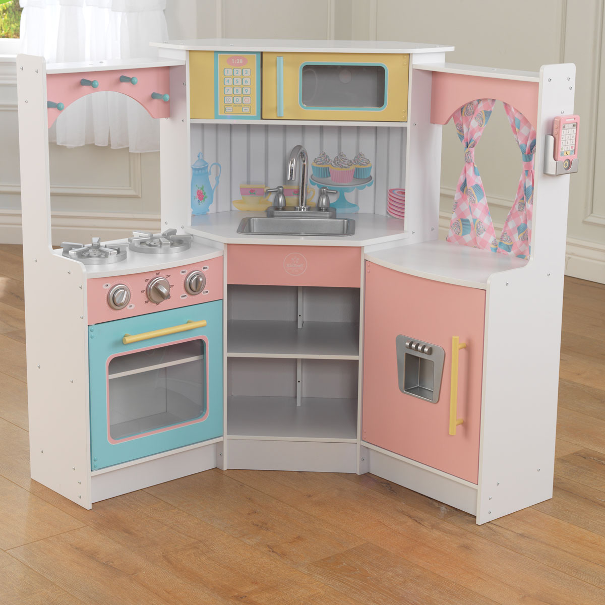Kidkraft deluxe corner play kitchen 53368 pirum for Kitchen kitchen