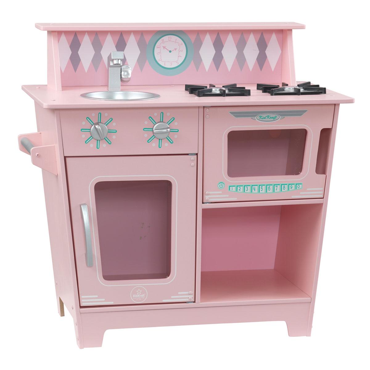 KidKraft Klassische Küchenzeile - Pink - aus Holz - 53383 | {Küchenzeile pink 8}
