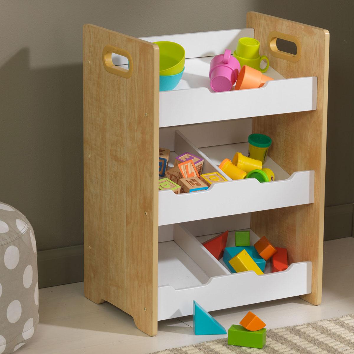 Kidkraft unit ad angolo con contenitori naturale 15766 - Muebles de almacenaje para ninos ...