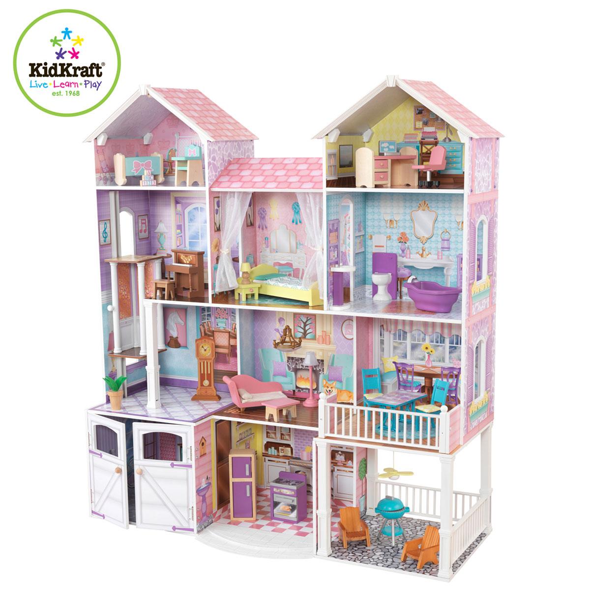 kidkraft casa delle bambole country estate - 65242 - pirum