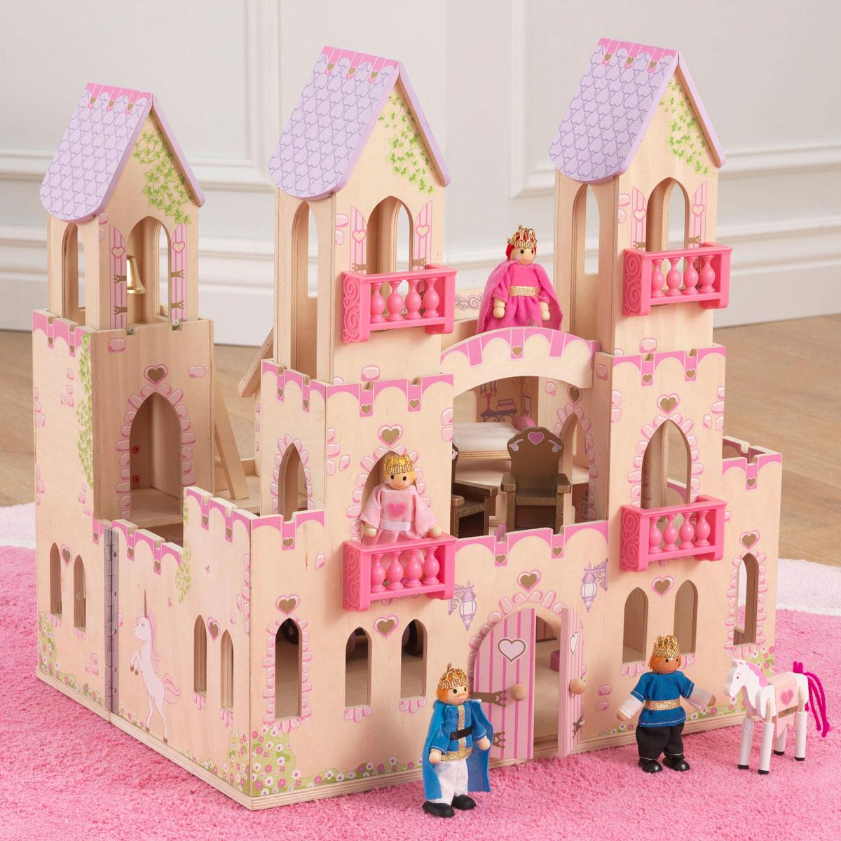SchiebetUren Holz Mit Schloss ~ KidKraft Prinzessinnen Schloss aus Holz mit Zubehör  Pirum