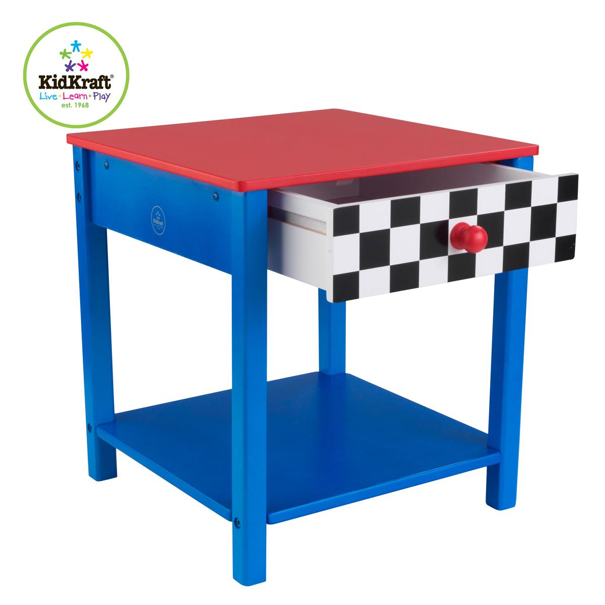 Kidkraft race car side table 76041 pirum for Table kidkraft